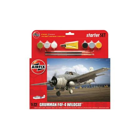 1/72 F4F4 Wildcat Aircraft Medium Starter Set w/paint & glue (Airfix Models)