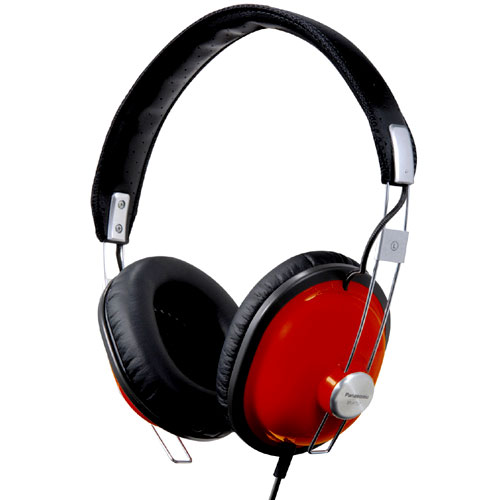 Panasonic RP-HTX7 Old School Monitor Stereo Headphone Red