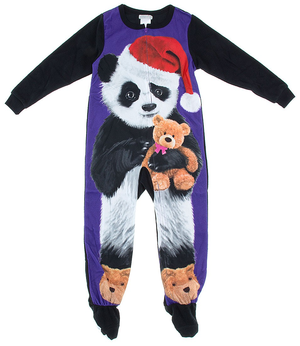 702f0434a Komar Kids - Komar Kids Big Girls  Panda Fleece Blanket Sleeper ...
