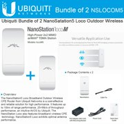 Ubiquiti LocoM5 2 units Nanostation Loco M5 5GHz Indoor Outdoor CPE 150+Mbps