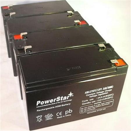 PowerStar AGM1275F2-4Pack 12V 7.5Ah Sla Battery 4 Pack - image 1 of 1