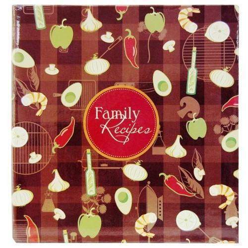 Family Recipes 3-Ring Scrapbook Kit, 5''X7'' Recipe Cards