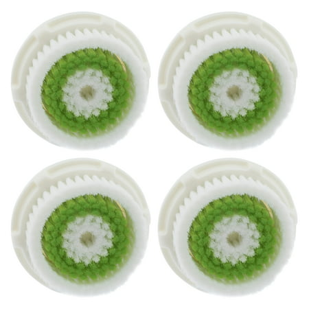 4-Pack Acne Prone Facial Cleansing Brush Heads for Clarisonic Mia 2 Pro
