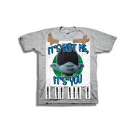 """Trolls Boys' """"Call Someone Who Cares"""" Branch Flyer Short Sleeve Graphic T-Shirt"""