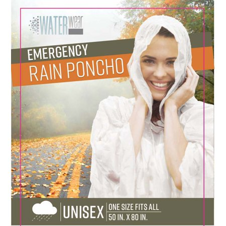 Kennedy Home Collection Emergency Rain Poncho, 50