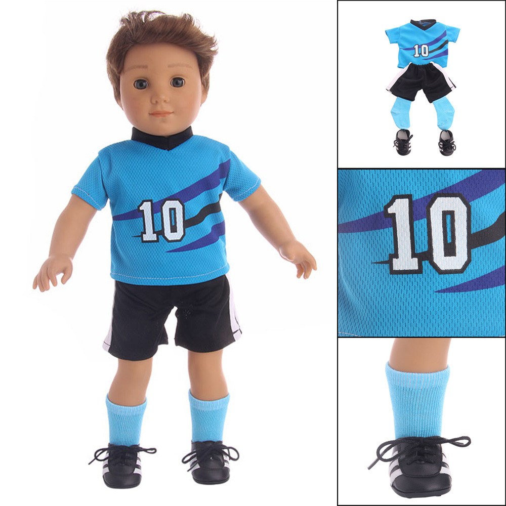 Mosunx Football Sports Clothes Outfits For 18 inch Our Generation American Boy Doll