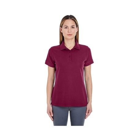 UltraClub Women's Basic Blended Pique Polo Shirt, Style 8560L