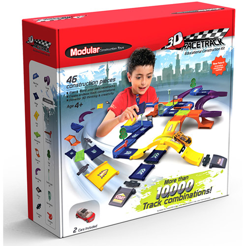 Modular Construction Toys Race Track Kit
