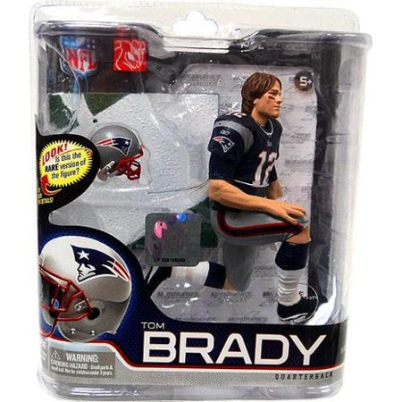 Tom Brady Action Figure Blue Jersey   Long Hair Sports Picks Series 27