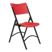 NPS® 600 Series Premium Resin-Plastic Folding Chair, Red (Pack of 4)