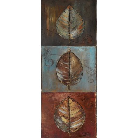 New Leaf Panel I - Vertical Stretched Canvas - Patricia Pinto (24 x 48)