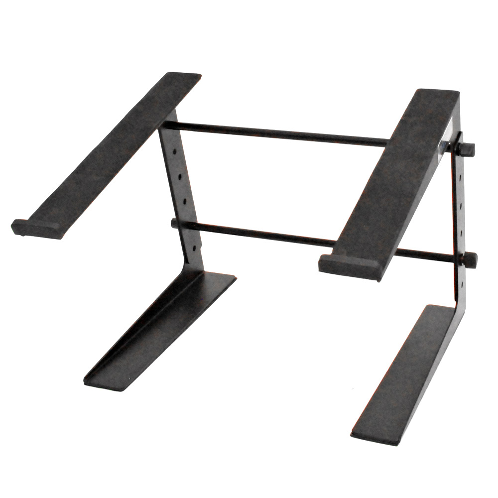 Seismic Audio Table Top or Desk Laptop Stand - Steel Rack - Laptop Keyboard Stand Black - COMS1
