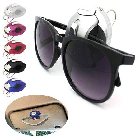 4 PCS Car Sun Visor Reading Glasses Sunglasses Ticket Card Holder Clip Universal Sunglasses Holder Cap