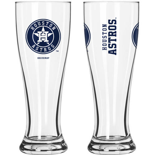 Boelter Brands MLB Houston Astros 2-Pack Gameday Pilsner Set