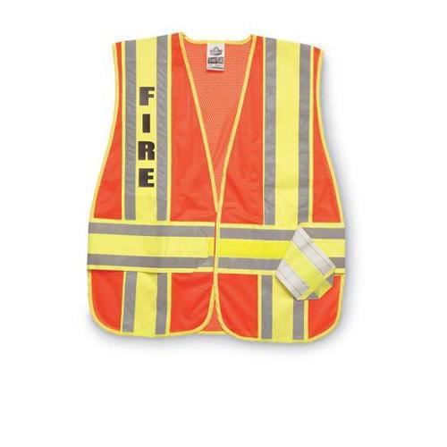 ERGODYNE 21386-FR Safety Vest, XL/2XL, Orange, Polyester