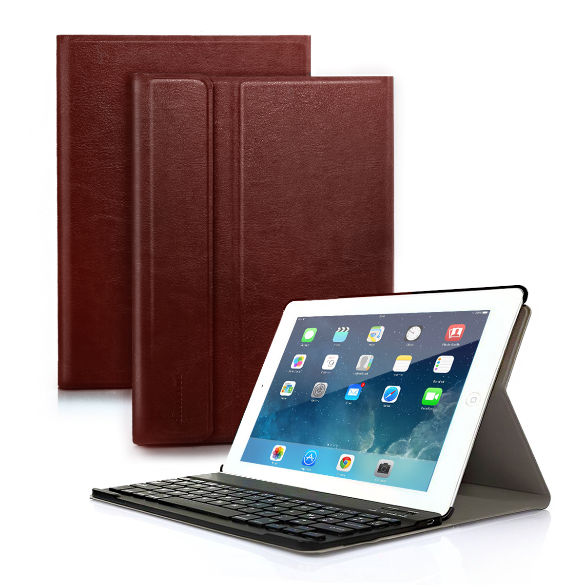 "New iPad 2017 Folio Case with Keyboard, iPad Pro 9.7 iPad Air 1 / 2 Detachable Bluetooth Keyboard with Anti-Slip Folio Case Cover for iPad Tablet (9.7"")"