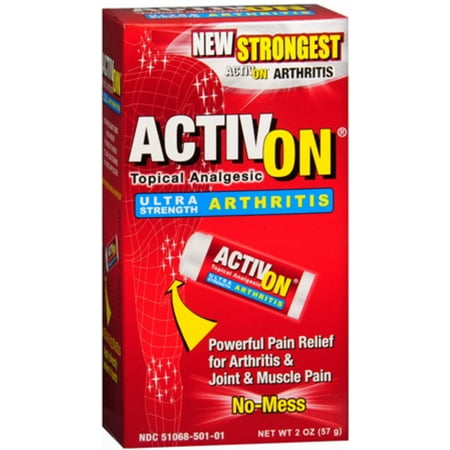 Activon Ultra Strength Arthritis Topical Analgesic 2 Oz  Pack Of 6