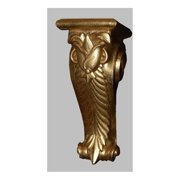 French Tulip Bracket in Antique Gold Finish