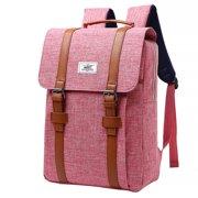 Smilepp Backpack Nylon Polyester Unisex Schoolbag Zipper S Strap Rucksack for School Travel, Watermelon Red