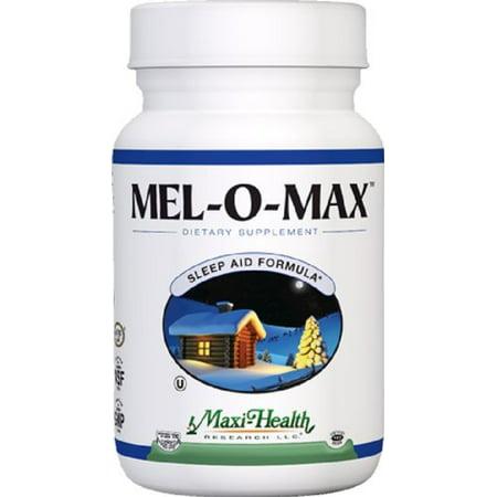 Maxi Santé Mel-O-Max - Melatonin - avec Valerian Root - Sleep Aid - 60 Capsules - casher