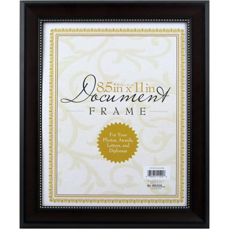 8 5x11 Mahogany Document Frame Walmart Com