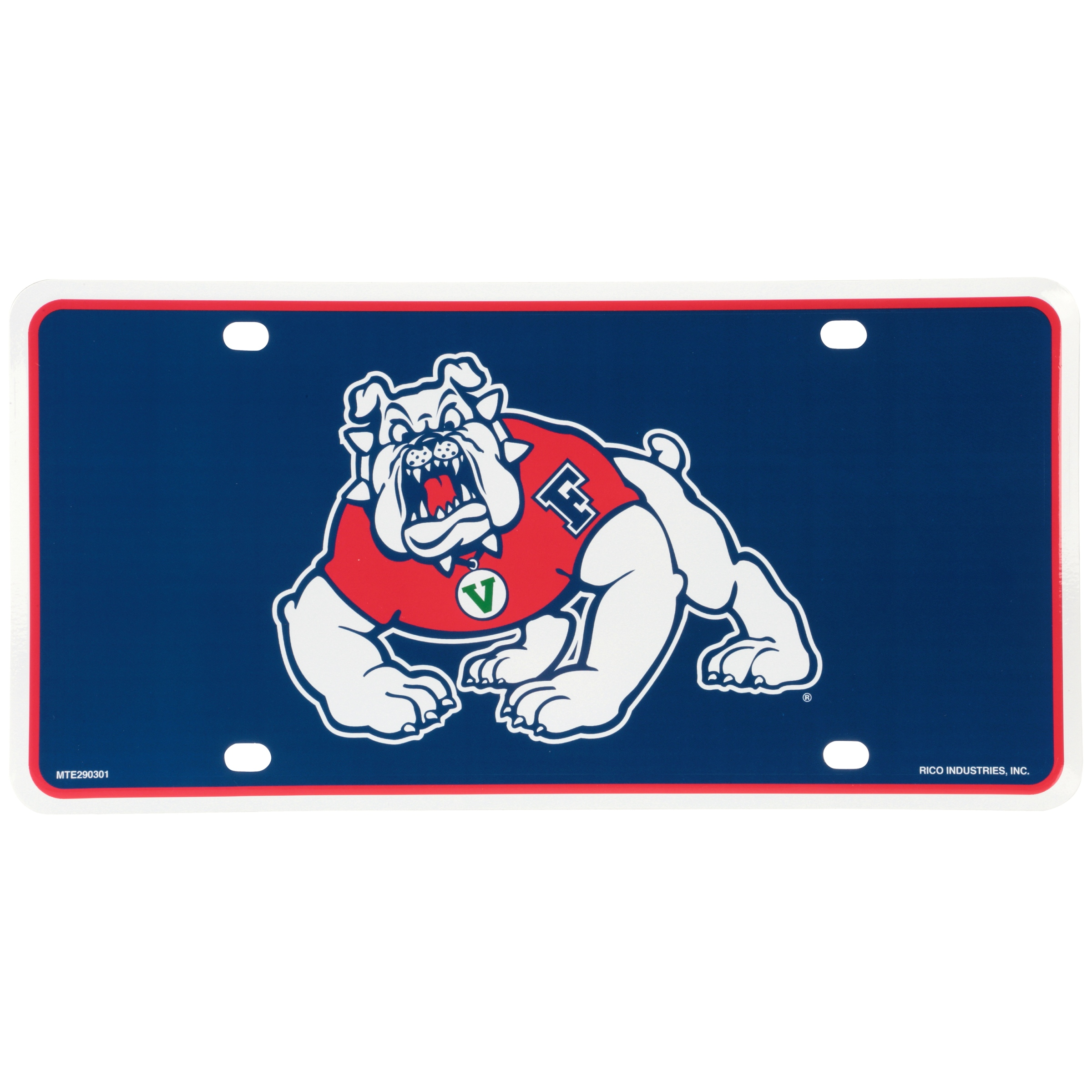 Rico Industries Fresno State Bulldogs License Plate
