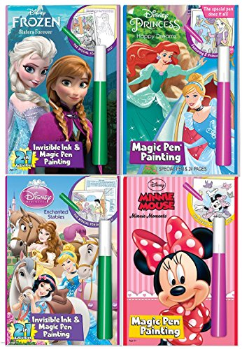 Happy Helpers Includes:MICKEY MOUSE and MINNIE MOUSE Minnie Moments Disney Mickey /& Friends Invisible Ink Magic Pen Painting Activity Books for Girls and Boys with Zipafile Zipper bag bundle
