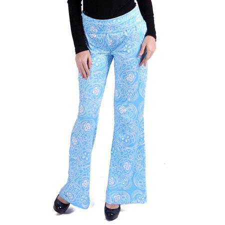 - HDE Women's High Waisted Palazzo Pants Mandala Boho Floral Print Wide Leg Pants