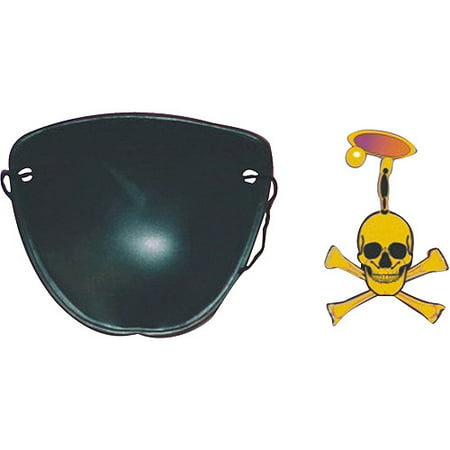Pirate Eye Patch and Earring Halloween Accessory - Eye Contact Halloween