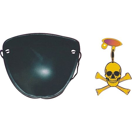 Pirate Eye Patch and Earring Halloween Accessory
