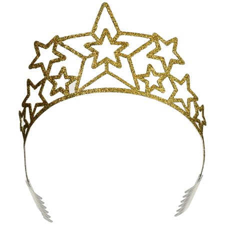 60639 Glittered Metal Star Tiara, This item is a great value! By Beistle (Metal Tiara)