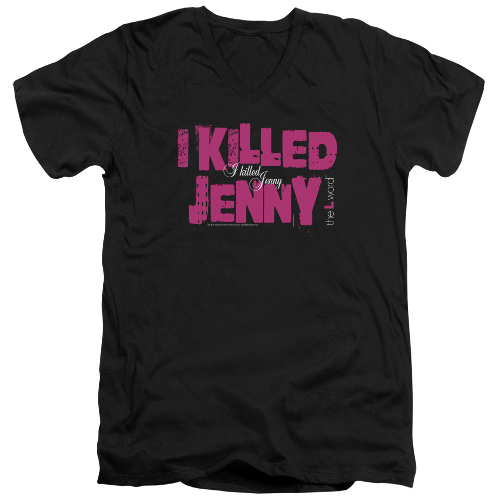 The L Word I Killed Jenny Mens V-Neck Shirt