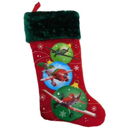 Red & Green Disney Planes Lightning Christmas Stocking El Chupacabra - Disney Christmas Stockings