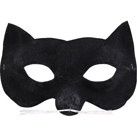 Velvet Cat Eye Mask Halloween Accessory