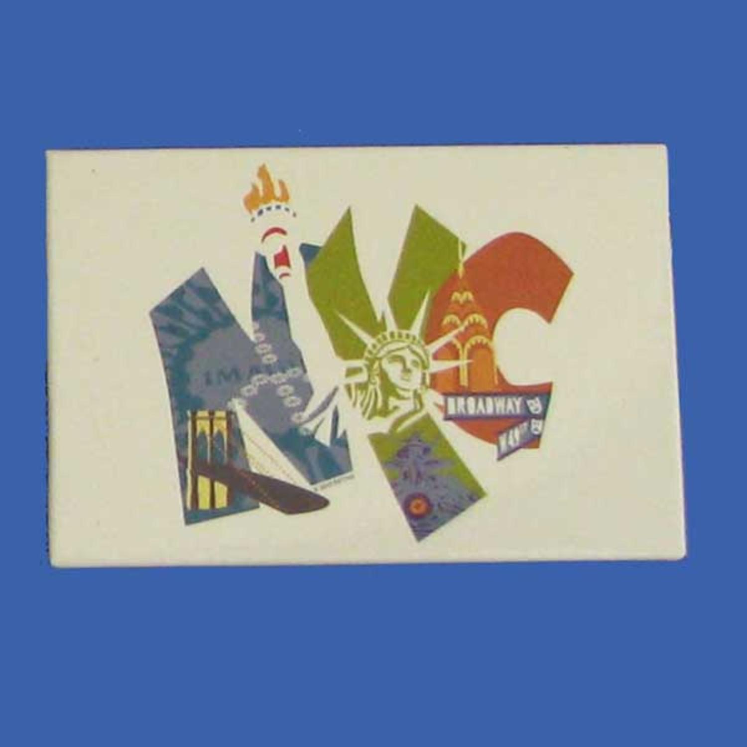 Club Pack Of 12 Decorative Big NYC Letter Magnets