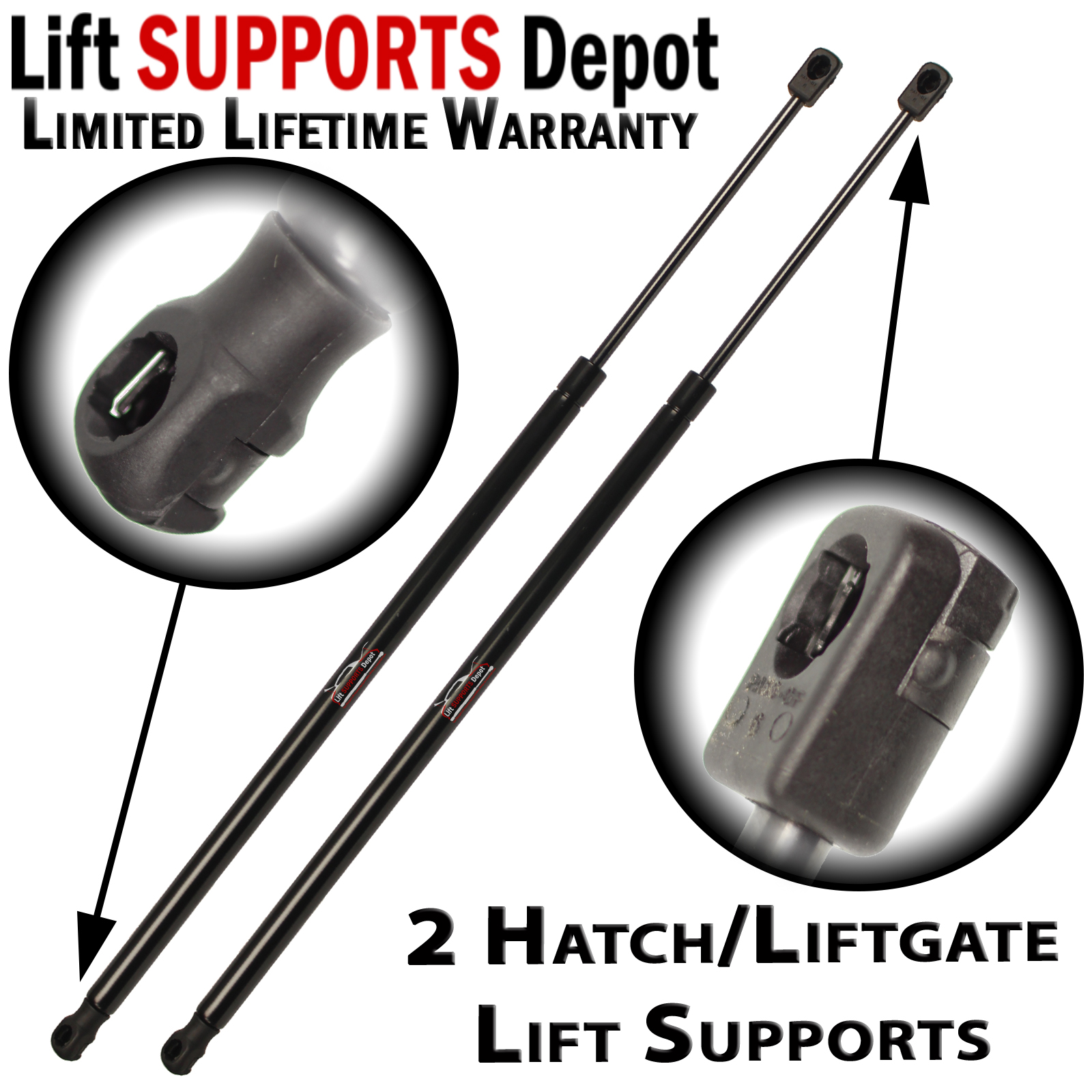 Qty(2) Fits Chevrolet Equinox 2005 To 2009 Liftgate Tailgate Lift Supports Struts - PM3042