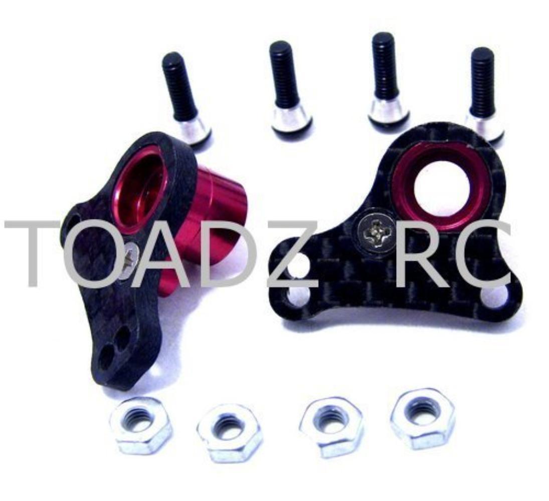 Hot Racing GVXS27RX Carbon Fiber Rear Multi Rocker Arms 1//16