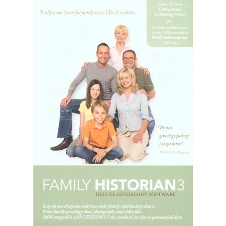 Family Historian 3 - Deluxe Genealogy Software Barcode Label Printing Software