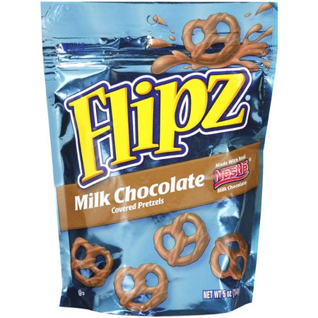 Flipz Milk Chocolate Covered Pretzels, 5 - Halloween Chocolate Pretzels