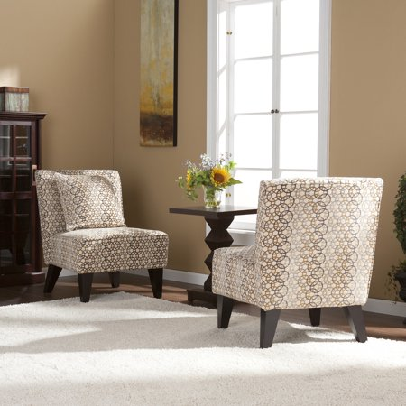 Pair Of Chairs With Pillows Loop Earth Tones