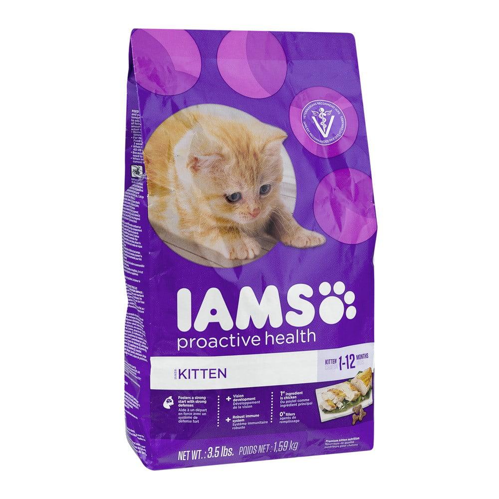 IAMS Proactive Health Kitten Chicken Dry Cat Food 3 5 Lb