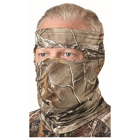 Hunters Specialties Facemask 3/4 Spandex, Silver/Realtree Xtra Green