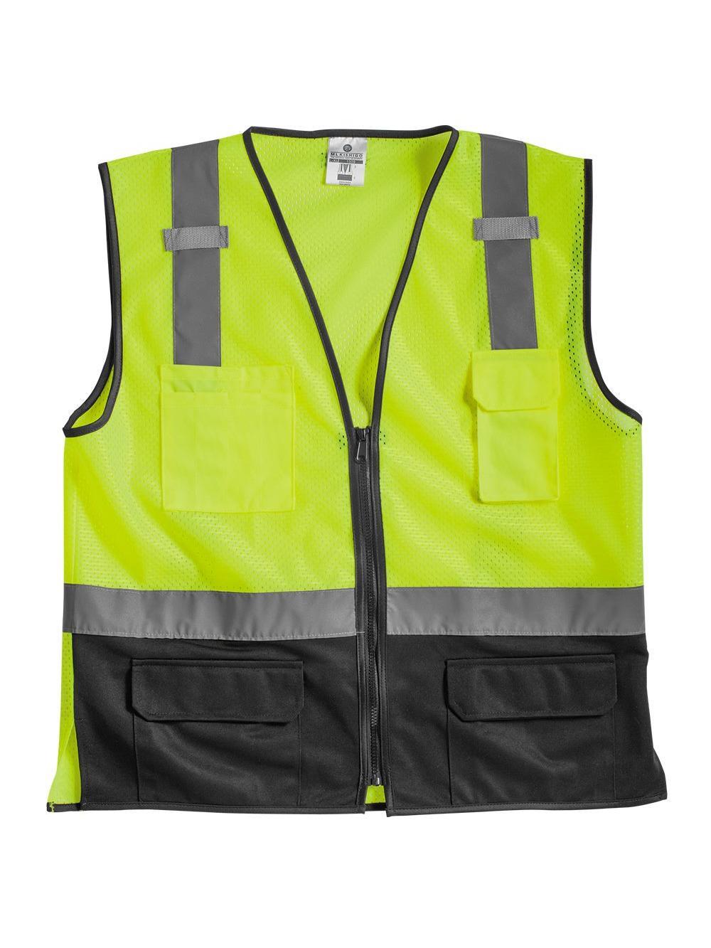 ML Kishigo Workwear Class 2 Black Bottom Vest