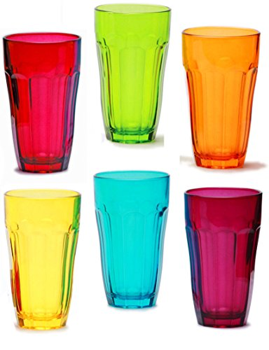 Palais Glassware 'Verre De Jus' Collection;, Multicolored Juice Glasses (12 Oz. Set of 6) by Palais Glassware
