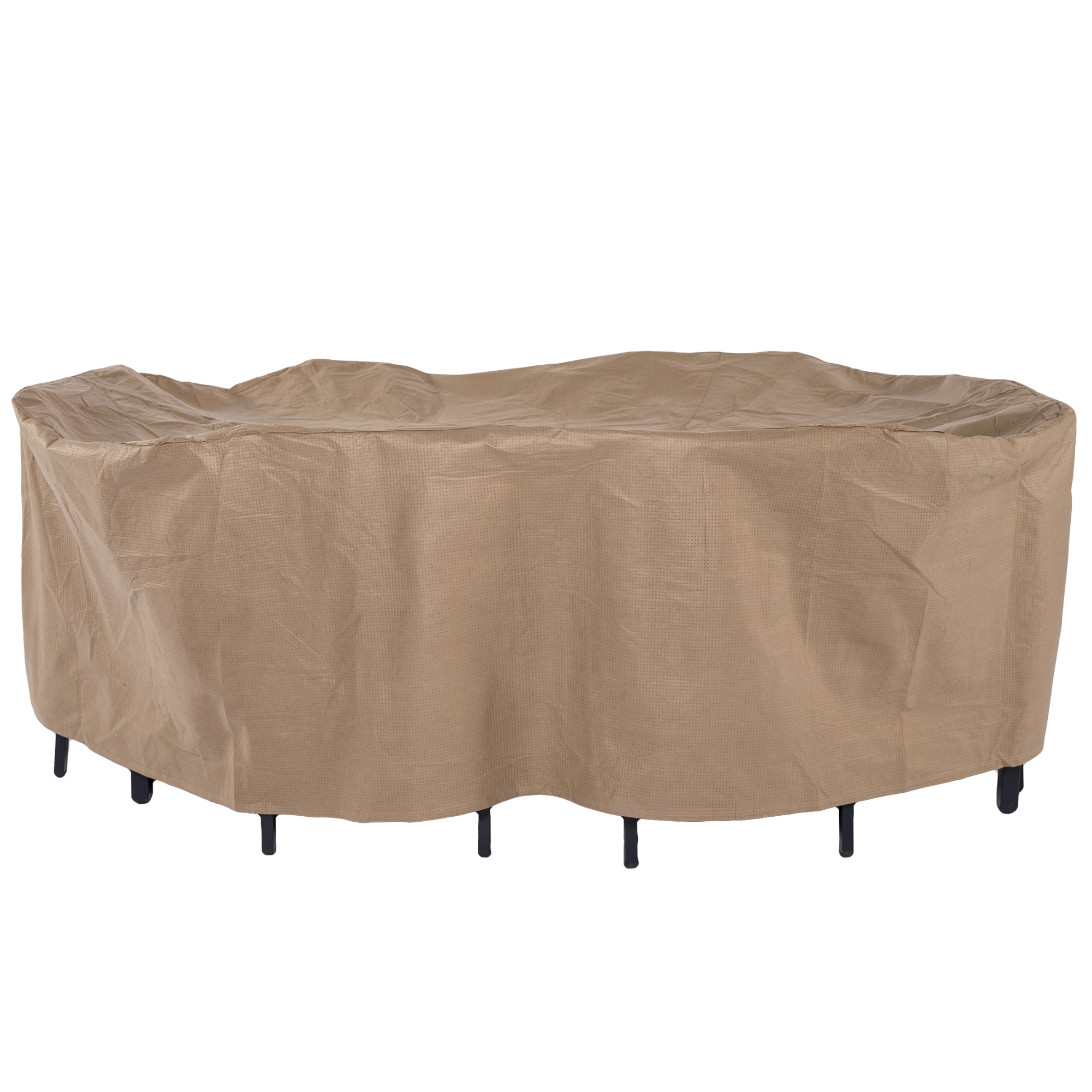 Duck Covers Essential Patio Loveseat Cover 54 Inch Flexible Storage