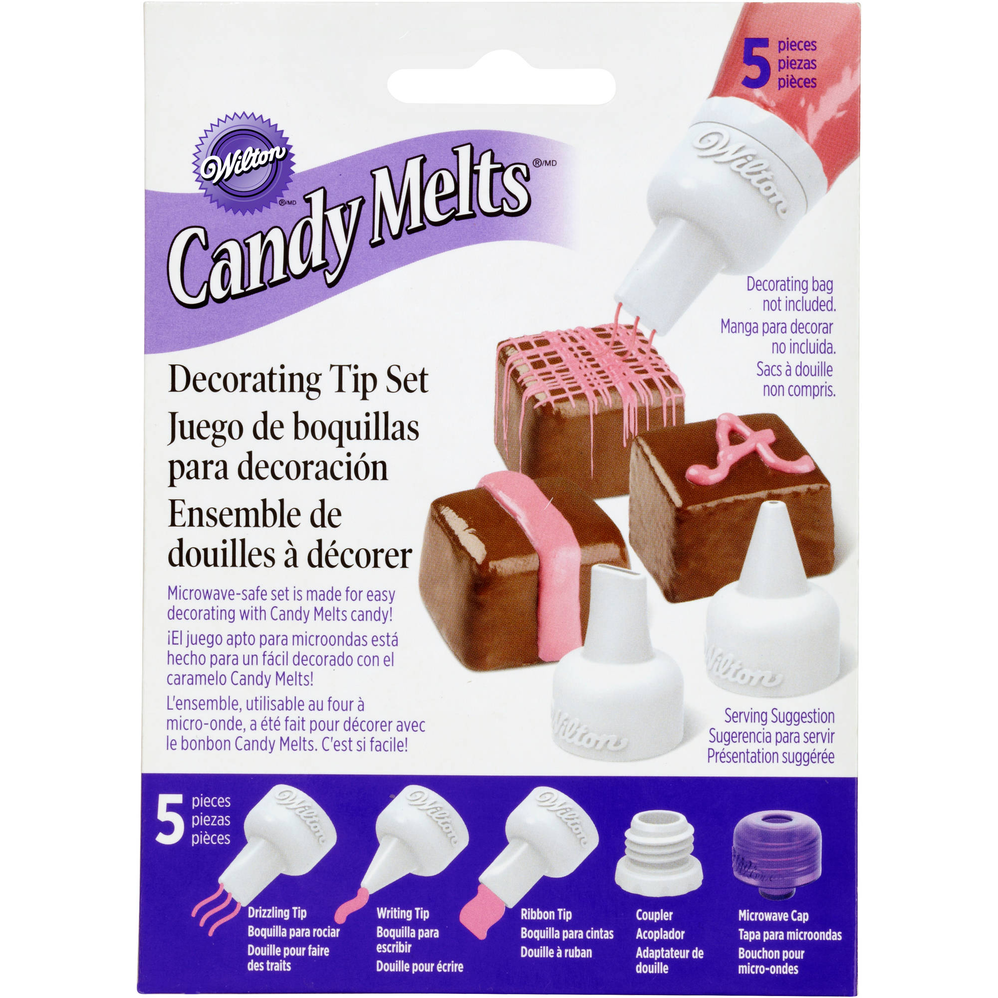Wilton Candy Melts Decorating Tip Set, 5 pc. 1904-1021