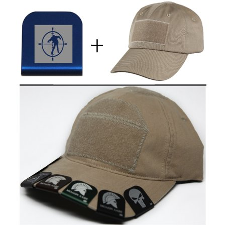 ae14de8bc ZOMBIE TARGET 2 Cap Crown Rim Brim-It Blue + Tan Hat - Walmart.com