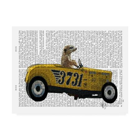 Trademark Fine Art 'Meerkat In Hot Rod' Canvas Art by Fab