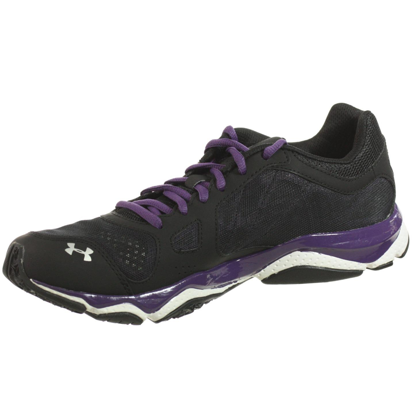 UNDER ARMOUR MENS ATHLETIC SHOES MICRO G TEAM PULSE TR BLACK PURPLE WHITE  9.5 M - Walmart.com