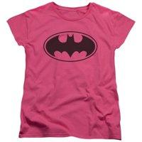 Batman-Black Bat - Short Sleeve Womens Tee - Fuchsia & Hot Pink, 2X